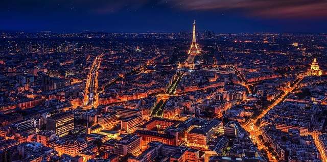 France by night.